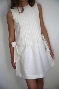 LINEN IVORY DRESS - MIMOSA KIDS