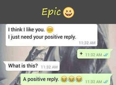 When someone you dont like asks for a positive reply