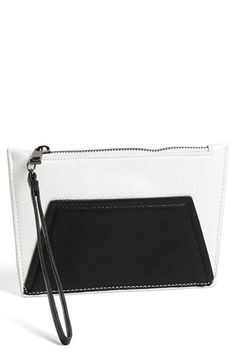 POVERTY FLATS by rian 'Geo Maude' Faux Leather Wristlet | Nordstrom