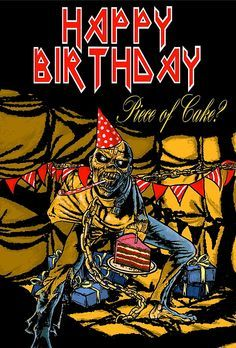 Iron Maiden insprired birthday card I have made.