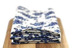 cloth napkins in blue floral print - 19 x 19 inches - set of two by vintagekelly on Etsy https://www.etsy.com/listing/251132922/cloth-napkins-in-blue-floral-print-19-x