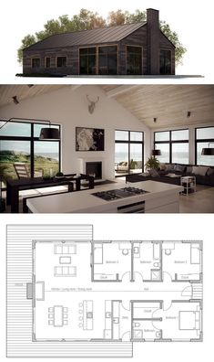 House plan, modern farmhouse homes house plans, modern house