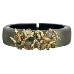 Allegory Gold Gem Clustered Vine Bracelet::Bracelets::Jewelry::Alexis Bittar
