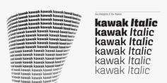 Kawak is a sans inspired by Mayan glyphs from the Tzolk'in ritual cycle. Kawak marries modernist typographic tradition with Pre-Hispanic formalism, creating a perfect blend between cleanliness, readability, objectivity, and the Mayan super-ellipse.Kawak…