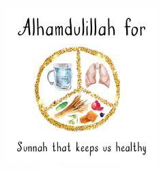 freebie (eating sunnah 1/3 food, 1/3 water, 1/3 air) of #AlhamdulillahForSeries on healthy muslimah