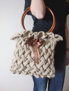 beautiful knit bag