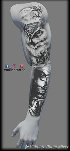 Cover Up Tattoos, Tattoo Drawings, Body Art Tattoos, Hand Tattoos, Sleeve Tattoos, Realistic Owl Tattoo, Tattoo No Peito, Buho Tattoo, Mangas Tattoo