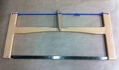 A completed folding beech-framed bucksaw