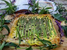 ...a quiet life...: novel bakers present the forest feast~ Jain's beautiful asparagus tart