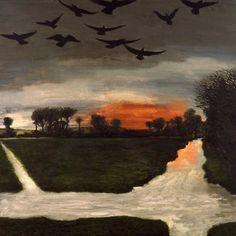 Lower Bockhampton II, David Inshaw (English, born 1943)