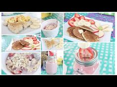 Healthy Breakfast Ideas~ Easy, Quick & Tasty! Get Fit - YouTube pancakes- 1 banana, 1/4 cup oats, 2 eggs