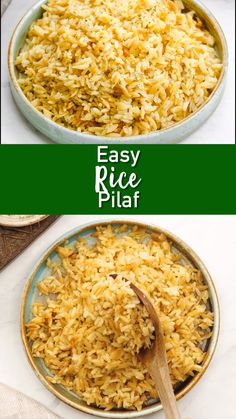 No more out of the box rice pilaf. This homemade version is so much better. A delicious side that can be used in so many ways! Easy rice pilaf, a delicious and simple side dish with flavorful rice and orzo. Easy to make and great with any main. Rice Recipes For Dinner, Easy Rice Recipes, Side Dish Recipes, Flavoured Rice Recipes, Leftover Rice Recipes, Seasoned Rice Recipes, Best Rice Recipe, Basmati Rice Recipes, White Rice Recipes