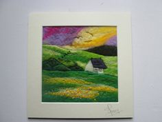 felt picture to frame textile art wet felted by SueForeyfibreart