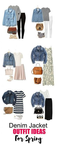 6 Denim Jacket Outfit Ideas for Spring - The denim jacket is a versatile piece to have in your wardrobe and can be worn from season to season.