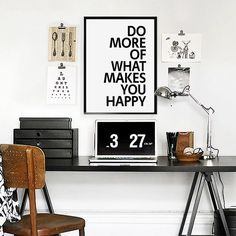 Do More Of What Makes You Happy Printable Wall Art by VisualPixie