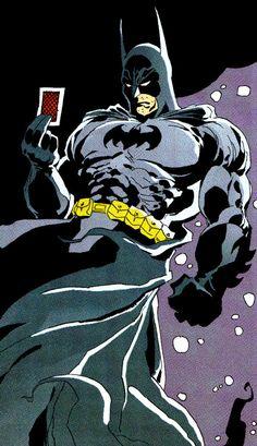 "endternet:  "" Joker's Calling Card  The Long Halloween #3 (February 1997)  ""Christmas""  Art by Tim Sale  """