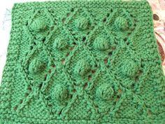 Bonbons Et Calissons Dishcloth By S.M. Kahn - Free Knitted Pattern - (smariek.blogspot)