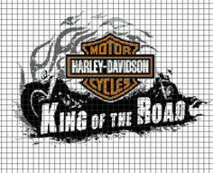 (4) Name: 'Crocheting : HARLEY DAVIDSON Graphghan Pattern