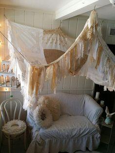 Shabby Chic rustic bed Canopy boho wedding Bohemian by HippieWild
