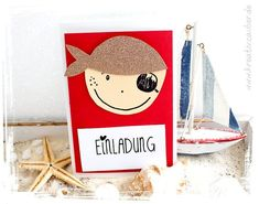 Kinder Geburtstag piratengeburtstag einladung basteln Buying a Swimsuit: A Guide for Women of all Sh Pirate Birthday Invitations, Party Invitations Kids, Birthday Cards, Pirate Kids, Birthday Gifts For Husband, Diy Gifts For Kids, Creations, Ferdinand, Mars