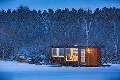 escape vista is a mobile cabin clad with corten steel