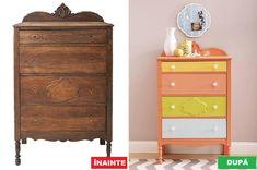 Nu mai arunca mobila veche – Iată cum o poți refolosi Funky Furniture, Vintage Furniture, Furniture Restoration, Chalk Paint, Diy And Crafts, Dresser, Ikea, Table, Modern