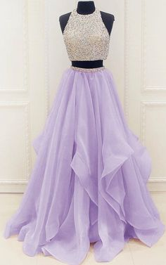 Elegant Homecoming Dress,Long Beaded Prom Dress,Sleeveless Two Piece Prom Dresses,Sexy Prom Gown Prom Dresses Sleeveless Prom Dress Two Pieces Homecoming Dress Homecoming Dresses Prom Dress Sexy Homecoming Dresses 2019 Lilac Prom Dresses, Elegant Homecoming Dresses, Two Piece Homecoming Dress, Dresses Elegant, Prom Dresses Two Piece, Prom Dresses For Teens, Prom Dresses 2018, Quinceanera Dresses, Modest Dresses