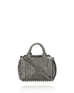 rockie in pebbled black/white tip with black nickel - Shoulder bag Women - Bags Women on Alexander Wang Online Store