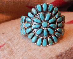 Sterling turquoise bracelet Native American bracelet Navajo Cherokee Zuni southwest jewelry Texas  quarter horse gifts pow wow western by LittleCherokeeValley on Etsy