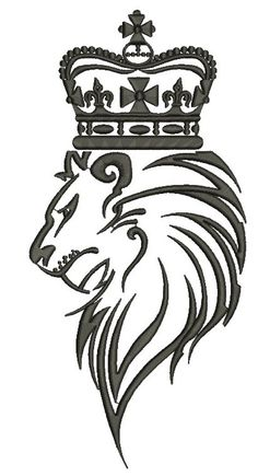 lion in the crown three sizes - Machine Embroidery Design - - tested Forearm Tattoos, Tribal Tattoos, Tribal Lion, Christmas Stage, Baby Boutique, The Crown, Machine Embroidery Designs, Lions, Tatting