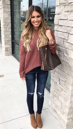 26 casual autumn outfits for women 2019 - Fashion and Style- 26 trajes casuales de otoño para mujer 2019 – Moda y Estilo 26 casual autumn outfits for women 2019 – Fashion and Style - Simple Fall Outfits, Casual Winter Outfits, Casual Clothes, Autumn Outfits, Women's Clothes, Preppy Outfits For School, Summer Outfits, Winter Dresses, Stylish Outfits