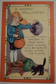 halloween vintage postcards | Recent Photos The Commons Getty Collection Galleries World Map App ...