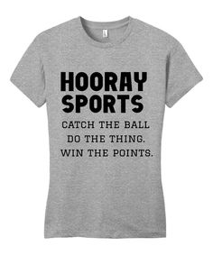 Look at this Line Liam Gray & Black 'Hooray Sports' Tee on #zulily today!