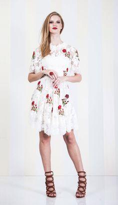 VESTIDO RENDA OFF WHITE CURTO - VE20431-99 | Skazi e Skclub, Moda feminina, roupa casual, vestidos, saias, mulher moderna