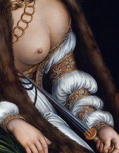tirant:    Lucretia committing suicide, Lucas Cranach the Elder (1550)