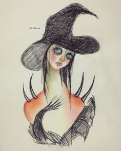 Sad Witch Srita Parasito drawing fashion art illustration horror nugoth