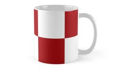 #Red And #White #Checkered Print #Mug by KCavender