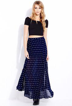 Sweet Dots Maxi Skirt   FOREVER21