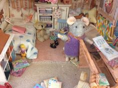 Miniature children's rooms - The Mouse Mansion