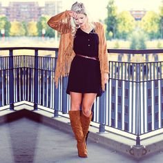 Katerina, Germany (https://instagram.com/katerinasack/)  Dress: Pocket Shirt Dress (http://www.justfab.co.uk/index.cfm?action=product.detail&master_product_id=2530711) Shoes: Audenne (http://www.justfab.se/index.cfm?action=product.detail&master_product_id=2454400&kw=audenne) Jacket: Fringe Faux Suede Jacket (http://www.justfab.se/index.cfm?action=product.detail&master_product_id=2587369)
