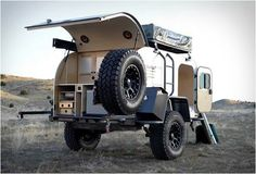 """MOBY1 XTR EXPEDITION TRAILER. It is the tear drop trailer and a rooftop tent. Really like the """"off road"""" look"""