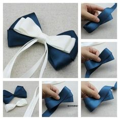 Cute hair bows for girls for decorating gifts and to help men for this holiday season lindos lazos para el cabello de – Artofit Making Hair Bows, Diy Hair Bows, Diy Bow, Diy Ribbon, Ribbon Crafts, Ribbon Bows, Ribbons, Fabric Bows, Fabric Flowers