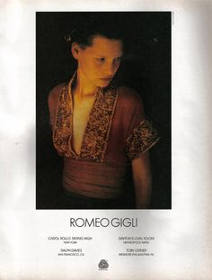 Romeo Gigli : Fashion, Topics | The Red List
