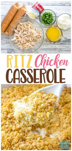 Ritz Chicken Casserole-This one here is a go-to classic favorite It s one of those recipes that can be whipped up quickly and you don t have to buy a long list of ingredients to make it It is creamy and filling ChickenCasserole WeeknightDinner Galletas Ritz, Ritz Chicken Casserole, Healthy Chicken Casserole, Can Chicken Recipes, Beef Recipes, Easy Roast Chicken, Rotisserie Chicken, Keto Chicken, Chicken Soup