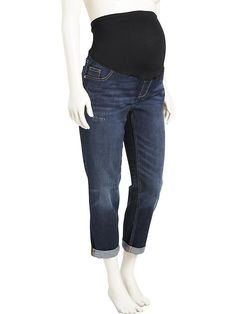 b2548f88ee Maternity Full-Panel Cropped Boyfriend Jeans Old Navy Maternity Jeans