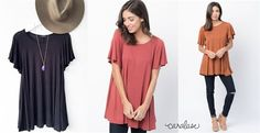 Butterfly Sleeve Tunic | S-XL