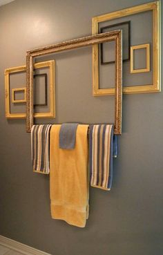 Repurpose Frame Saturday here! Take a look at this, with a little creativity on your part, you could reinvent your entire bathroom! --------------- #repurposed #frame #diy #picture #frames #bathroom #home