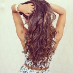 This is what I'm going for practically, nice brown hair with perfect waves and I've already got the length so getting there Ahahaha