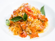 Home & Family - Recipes - Cristina's Tomato Sauce & Spaghetti Squash | Hallmark Channel