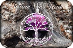 Pink Wire Wrapped Tree of Life with Genuine by MadamVonTrinkets $30 http://www.etsy.com/shop/MadamVonTrinkets #pink #wirewrapped #treeoflife